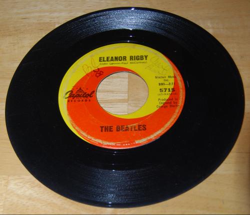 Vintage vinyl beatles 45s 2