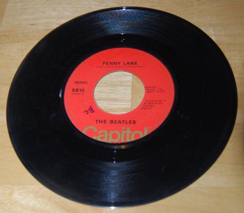 Vintage vinyl beatles 45s x