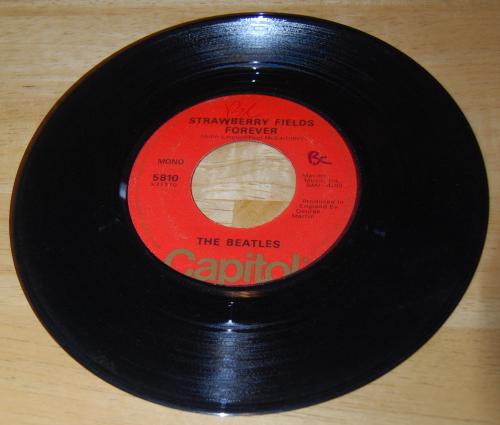 Vintage vinyl beatles 45s