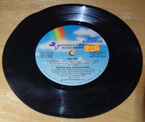 Vintage vinyl 45s 17x
