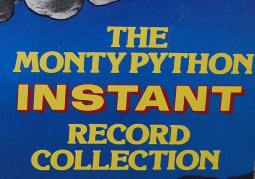 The monty python instant record collection vinyl