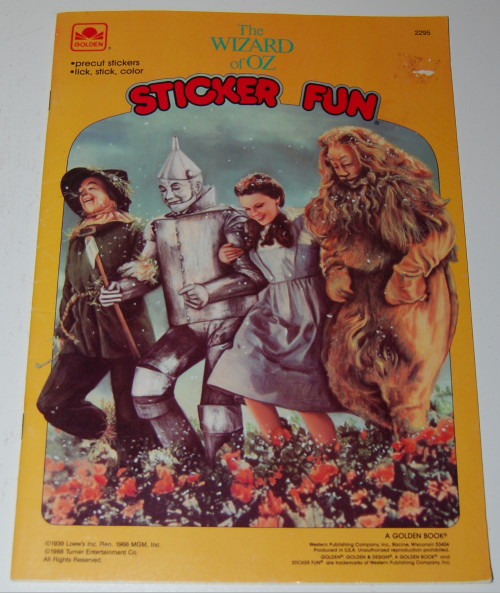 Wizard of oz golden sticker book