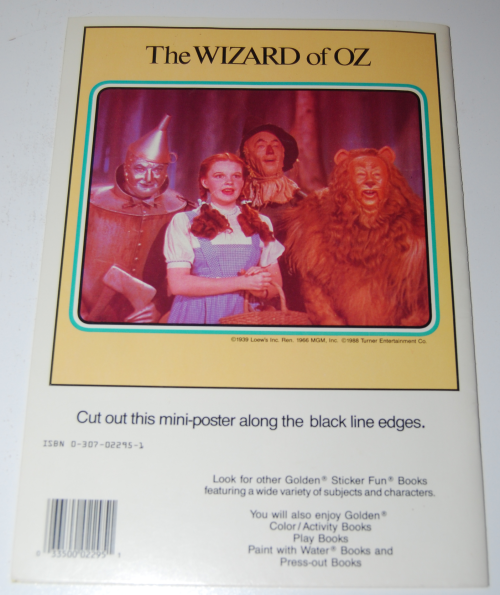 Wizard of oz golden sticker book 5