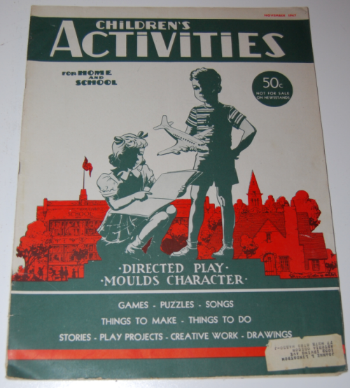 Children's activities magazine november 1947