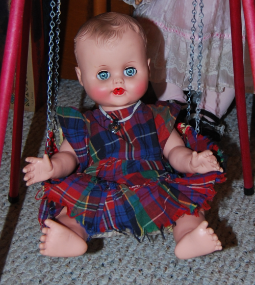 Vintage doll & swing 7