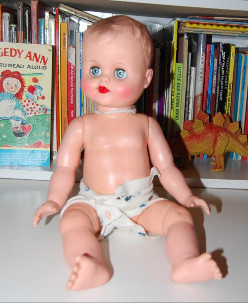 Vintage doll & swing 1