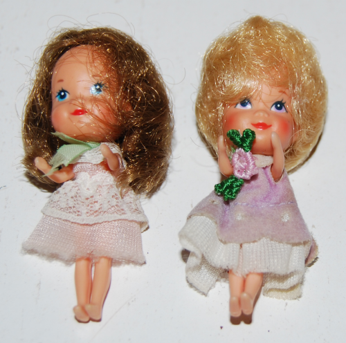 Teeny tiny vintage dolls