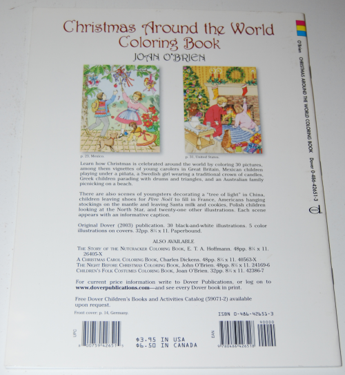 Dover xmas around the world coloring book x