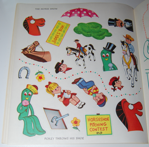 Gumby & pokey sticker fun whitman 9
