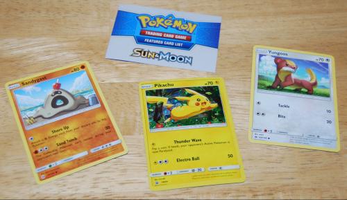 Pokemon sun moon cards