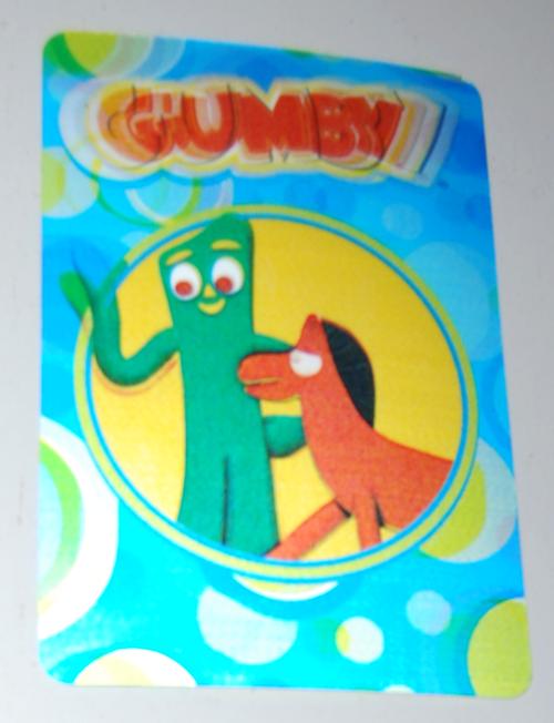Gumby lenticular postcard 1