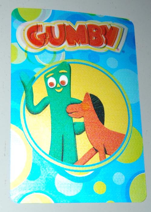 Gumby lenticular postcard