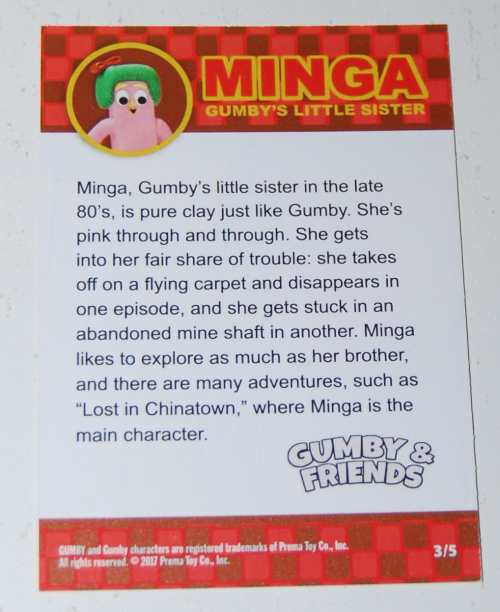 Gumby's world collector card foils 3x