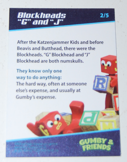 Gumby's world collector card foils 4x