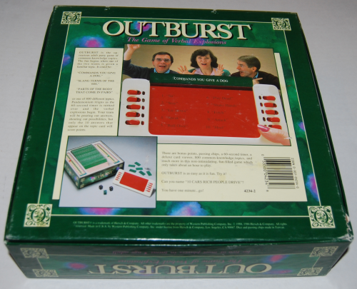 Outburst board game x