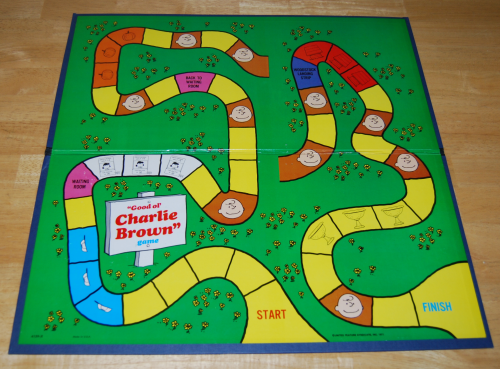Charlie brown milton bradley board game 1