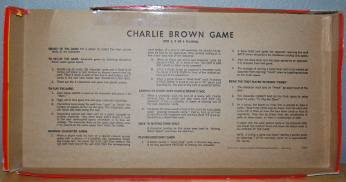 Charlie brown milton bradley board game x