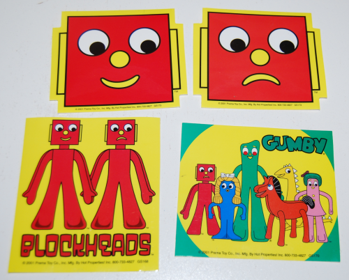 Gumby blockhead stickers