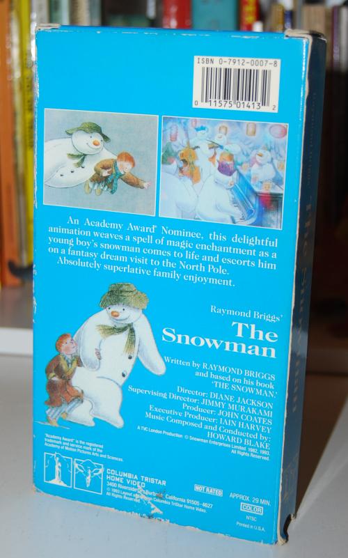 The snowman vhs x