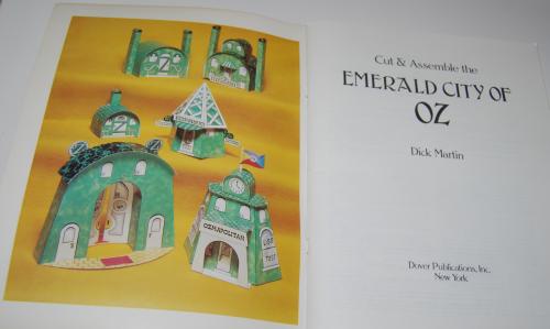 Cut & assemble the emerald city of oz 1