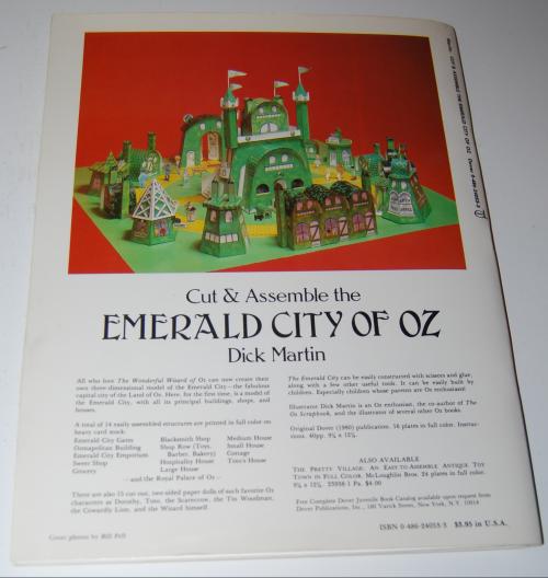 Cut & assemble the emerald city of oz x