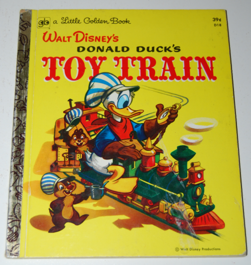 Little golden book donald duck's toy train