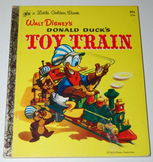 Little golden book donald duck's toy train
