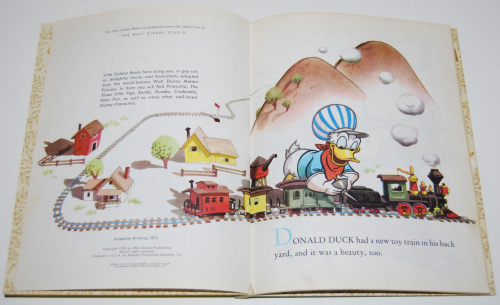 Little golden book donald duck's toy train 2