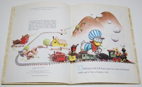 Little golden book donald duck's toy train 2
