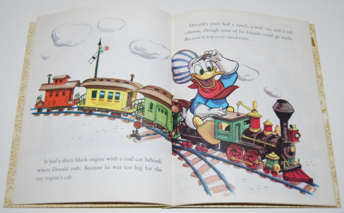 Little golden book donald duck's toy train 3