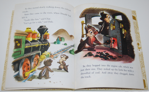 Little golden book donald duck's toy train 7