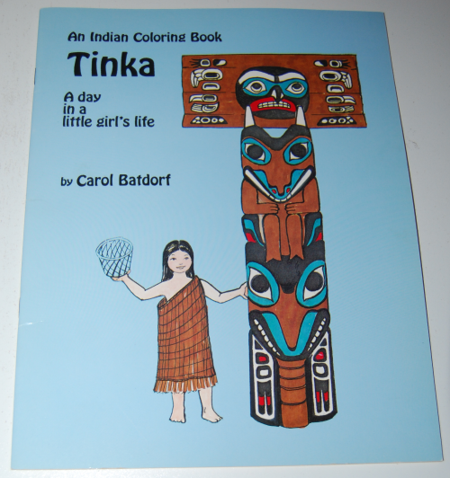 American indian girl coloring book tinka