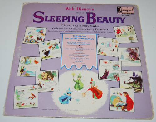 Disney sleeping beauty vinyl x