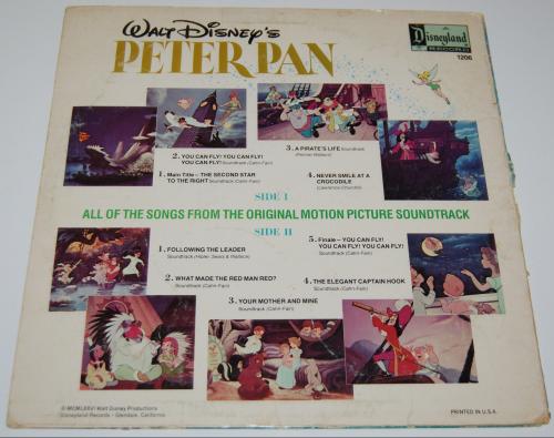 Disney peter pan vinyl x