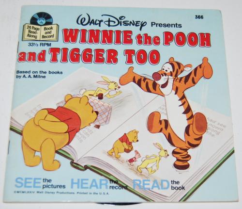 Disney pooh & tigger vinyl record