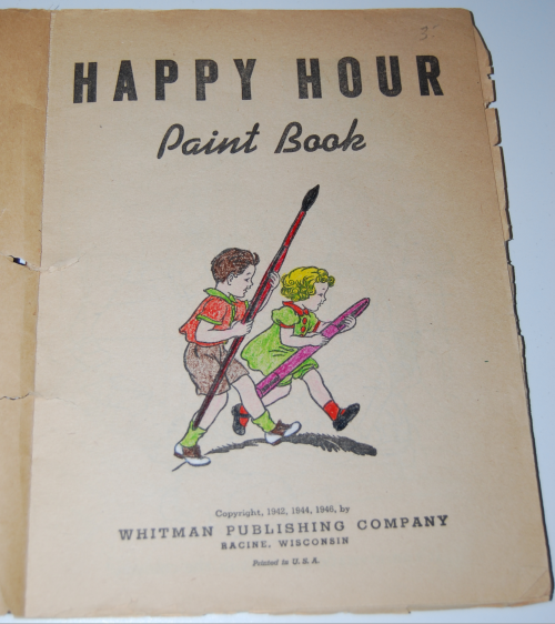 Whitman happy hour paint book 1946 1