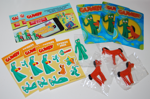Gumby's world app prizes