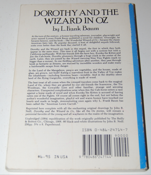 Dorothy & the wizard of oz book x