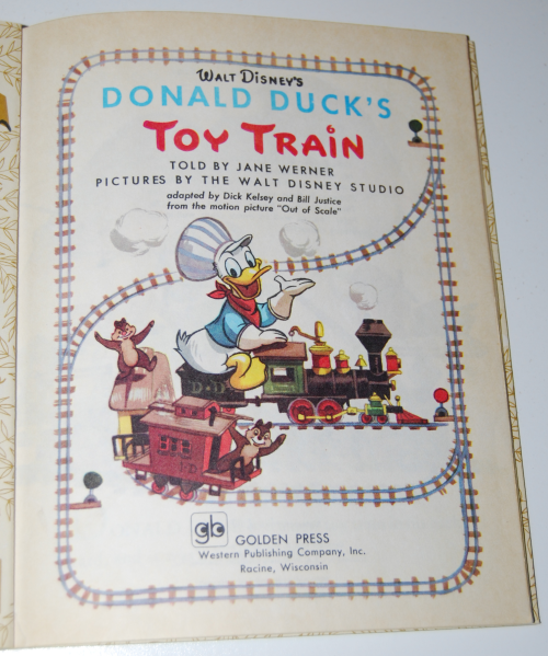Little golden book donald duck's toy train 1
