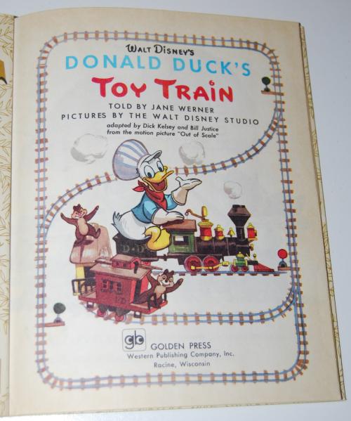 Little golden book donald duck's toy train 1