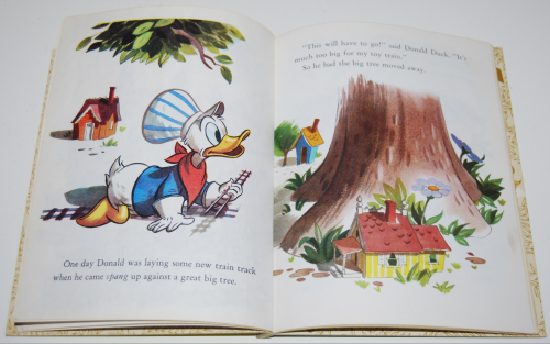 Little golden book donald duck's toy train 4