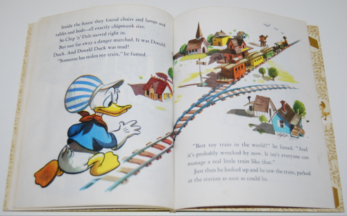 Little golden book donald duck's toy train 9