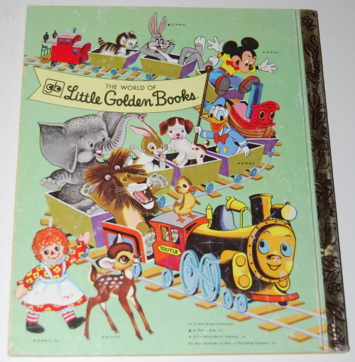 Little golden book donald duck's toy train x