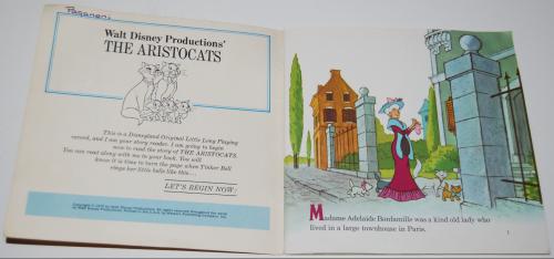 Disney aristocats vinyl record 1