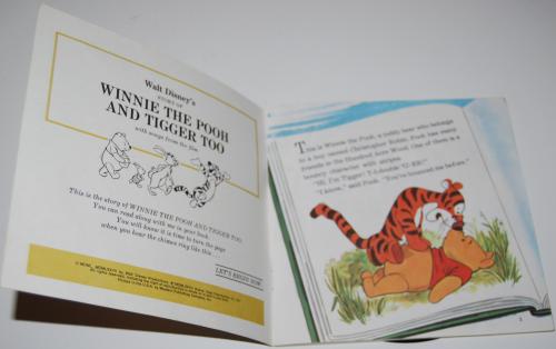 Disney pooh & tigger vinyl record 1