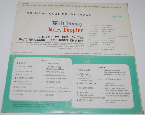 Disney mary poppins vinyl x