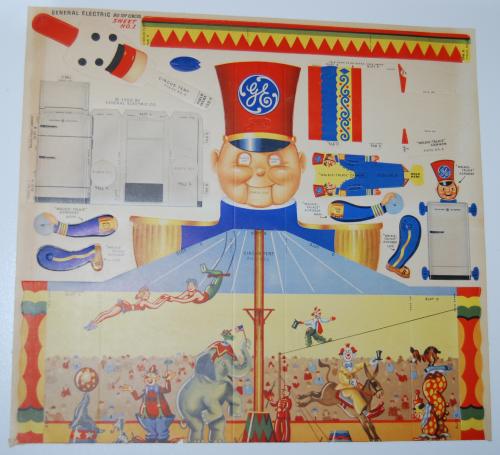 Ge big top circus cutout 1950 1