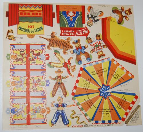 Ge big top circus cutout 1950 5