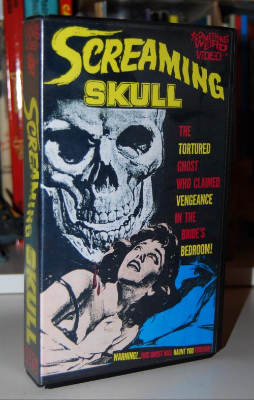 The screaming skull vhs