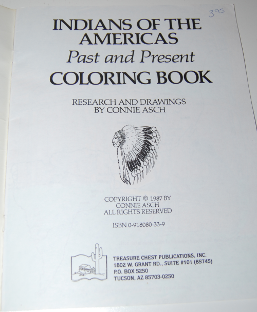 American indians coloring book 1